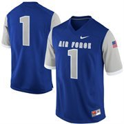 Nike Air Force Falcons #1 Game Football V-Neck Jersey - Royal Blue