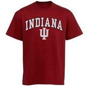 Mens Crimson Indiana Hoosiers Arch Over Logo T-Shirt