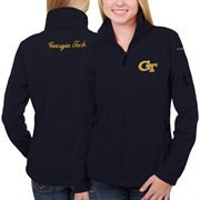 Women's GA Tech Yellow Jackets Columbia Navy Blue Give & Go Full Zip Jacket