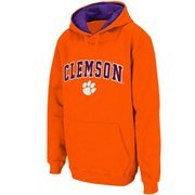 Mens Clemson Tigers Orange Classic Arch Logo Twill Hoodie