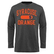 Mens Syracuse Orange Charcoal Straight Out long Sleeve Thermal T-Shirt