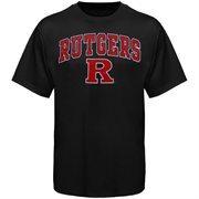 Mens Black Rutgers Scarlet Knights Arch Over Logo T-Shirt