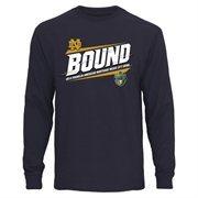 Mens Notre Dame Fighting Irish Navy Blue 2014 Franklin American Mortgage Music City Bowl Bound Long Sleeve T-Shirt