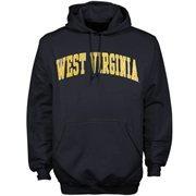 Mens West Virginia Mountaineers Navy Blue Bold Arch Hoodie