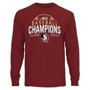 Men's Garnet Florida State Seminoles 2015 ACC Men's Baseball Tournament Champions Long Sleeve T-Shirt