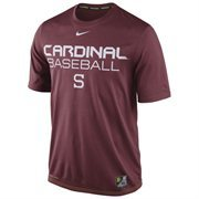 Mens Nike Cardinal Stanford Cardinal Baseball Team Issue Legend Performance T-Shirt