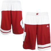 Men's adidas Cardinal Wisconsin Badgers 2015 March Madness Replica Basketball Shorts