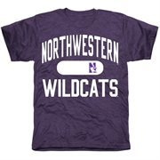 Mens Northwestern Wildcats Purple Athletic Issued Tri-Blend T-Shirt