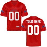 Ole Miss Rebels Personalized Football Name & Number Jersey - Cardinal
