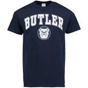 Men's Navy Blue Butler Bulldogs Mid-Size Arch Over Logo T-Shirt