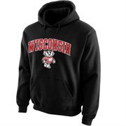 Wisconsin Badgers Midsize Arch Pullover Hoodie - Black