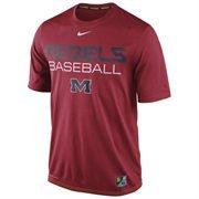 Mens Nike Cardinal Ole Miss Rebels Baseball Team Issue Legend Performance T-Shirt