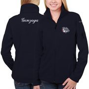 Women's Gonzaga Bulldogs Columbia Navy Blue Give & Go Full Zip Jacket