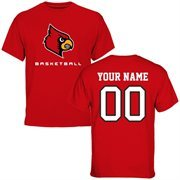 Louisville Cardinals Personalized Basketball T-Shirt - Red