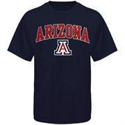 Mens Navy Blue Arizona Wildcats Arch Over Logo T-Shirt