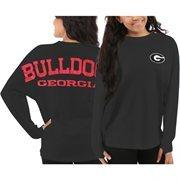 Women's Georgia Bulldogs Gray Sweeper Long Sleeve Oversized Top