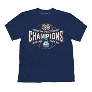 Men's Navy Blue Notre Dame Fighting Irish 2015 ACC Men's Basketball Conference Tournament Champions Locker Room T-Shirt