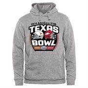 Mens Texas Longhorns vs. Arkansas Razorbacks Ash 2014 AdvoCare V100 Texas Bowl Dueling Pullover Hoodie