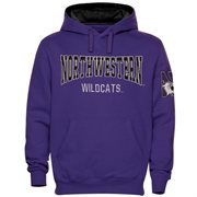 Mens Northwestern Wildcats Purple Double Arch Pullover Hoodie