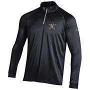 Men's Under Armour Black Vanderbilt Commodores 1/4 Zip Long Sleeve Tech T-Shirt