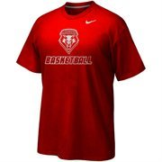 Mens New Mexico Lobos Nike Cherry Basketball Legend Practice Performance T-Shirt
