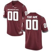 Men's Washington State Cougars Nike Crimson Team Color Custom Game Jersey
