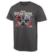 Men's Alabama Crimson Tide vs. Ohio State Buckeyes Gray 2015 Sugar Bowl Criss Cross T-Shirt