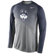 Mens UConn Huskies Nike Gray 2014-2015 Fearless Shootaround Long Sleeve Dri-Fit Shirt