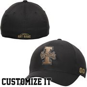 Idaho Vandals Fundamental Personalized Football Name & Number Structured Flex Hat  - Black