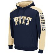 Mens Pitt Panthers Thriller II Pullover Hoodie - Navy Blue