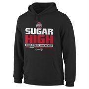 Mens Ohio State Buckeyes Black 2015 Sugar Bowl Champions Sugar High Hoodie