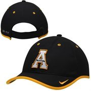 Mens Appalachian State Mountaineers Nike Black 2014 Coaches Performance Adjustable Hat