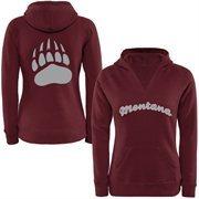 Women's Montana Grizzlies Oversize Script Logo Hoodie Sweatshirt