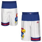 Men's adidas White Kansas Jayhawks 2015 March Madness Replica Basketball Shorts