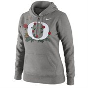 Women's Oregon Ducks Nike Gray 2015 College Football Playoff Rose Bowl Bound Therma-FIT Hoodie