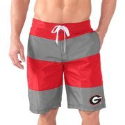 Men's Red Georgia Bulldogs Pinch Hitter Swim Trunks