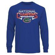 Men's Royal Blue Florida Gators 2015 NCAA Women's Gymnastics National Champions Long Sleeve T-Shirt