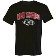 Mens Black New Mexico Lobos Arch Over Logo T-Shirt