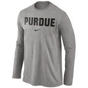 Purdue Boilermakers Nike Wordmark Long Sleeve T-Shirt - Dark Gray
