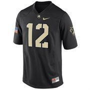 Nike Army Black Knights #12 Game Football Jersey - Black