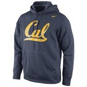 Cal Bears Nike Warp Logo Therma-FIT Hoodie - Navy Blue