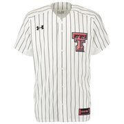 Men's Under Armour White Texas Tech Red Raiders Replica Baseball Jersey