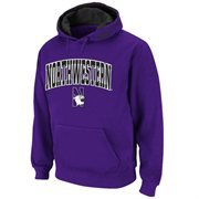 Mens Northwestern Wildcats Purple Classic Arch Logo Twill Hoodie