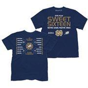 Men's Navy Blue Notre Dame Fighting Irish 2015 NCAA Men's Basketball Tournament Sweet 16 Bracket T-Shirt