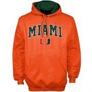 Miami Hurricanes Orange Classic Twill Pullover Hoodie Sweatshirt