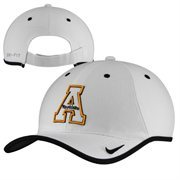 Mens Appalachian State Mountaineers Nike White 2014 Coaches Performance Adjustable Hat
