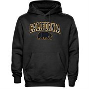 Mens Dark Gray Cal Bears Arch Over Logo Hoodie