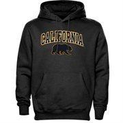 Mens Dark Gray Cal Bears Arch Over Logo Hoodie