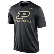 Mens Purdue Boilermakers Nike Black Basketball Practice Dri-FIT T-Shirt