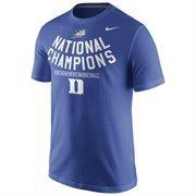 Men's Nike Duke Blue Duke Blue Devils 2015 NCAA Men's Basketball National Champions Celebration Sleeve T-Shirt